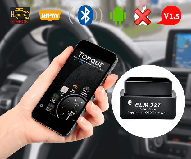 ELM327 черный и приложение Torque