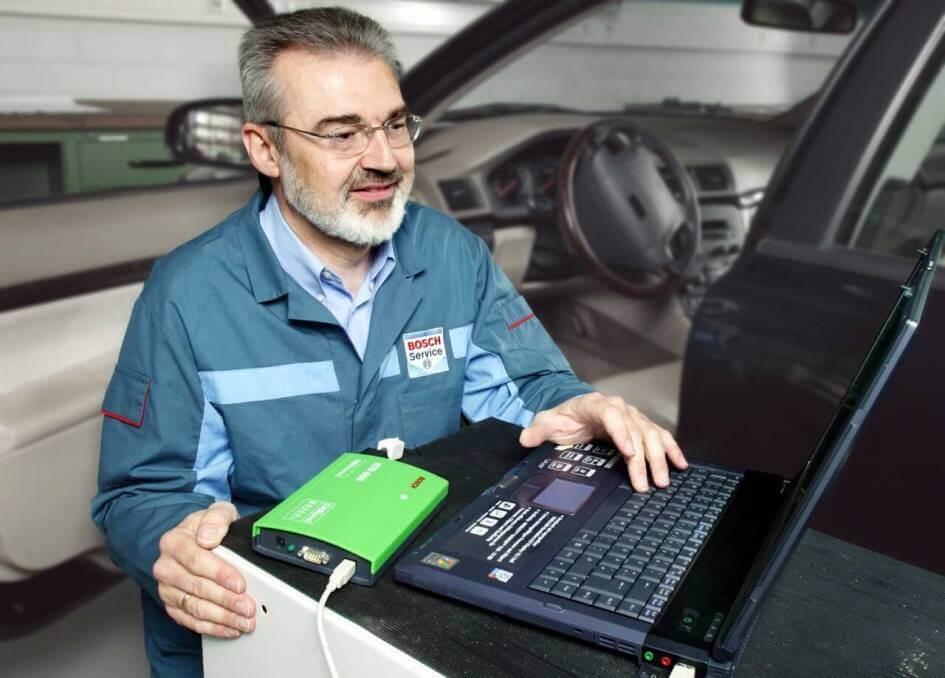 Автодиагностика сканером Bosch