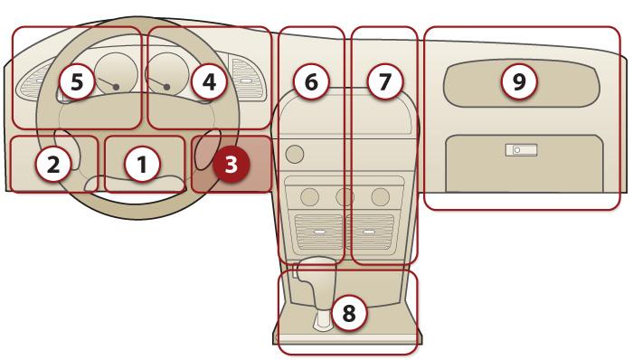 Расположение диагностического разъема 16 PIN у ВАЗ 2112